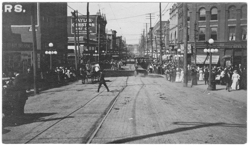 State Street, Bristol, TN in the 1900s (credit: Bernard Forrest Berens via Peyton Boyd)
