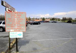 ANDRE TEAGUE/BRISTOL HERALD COURIER — A study commissioned by the city of Bristol, Va., suggests additional parking is needed in the downtown area. The municipal parking lot across from the Bristol Train Station is one of the possible sites under consideration.