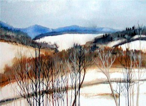 Winter Landscape #2 by Linda Hamilton