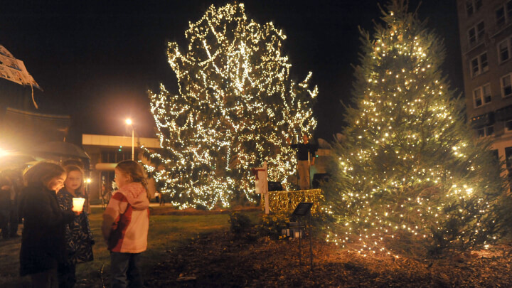 Annual Community Christmas Tree Lighting At Berland
