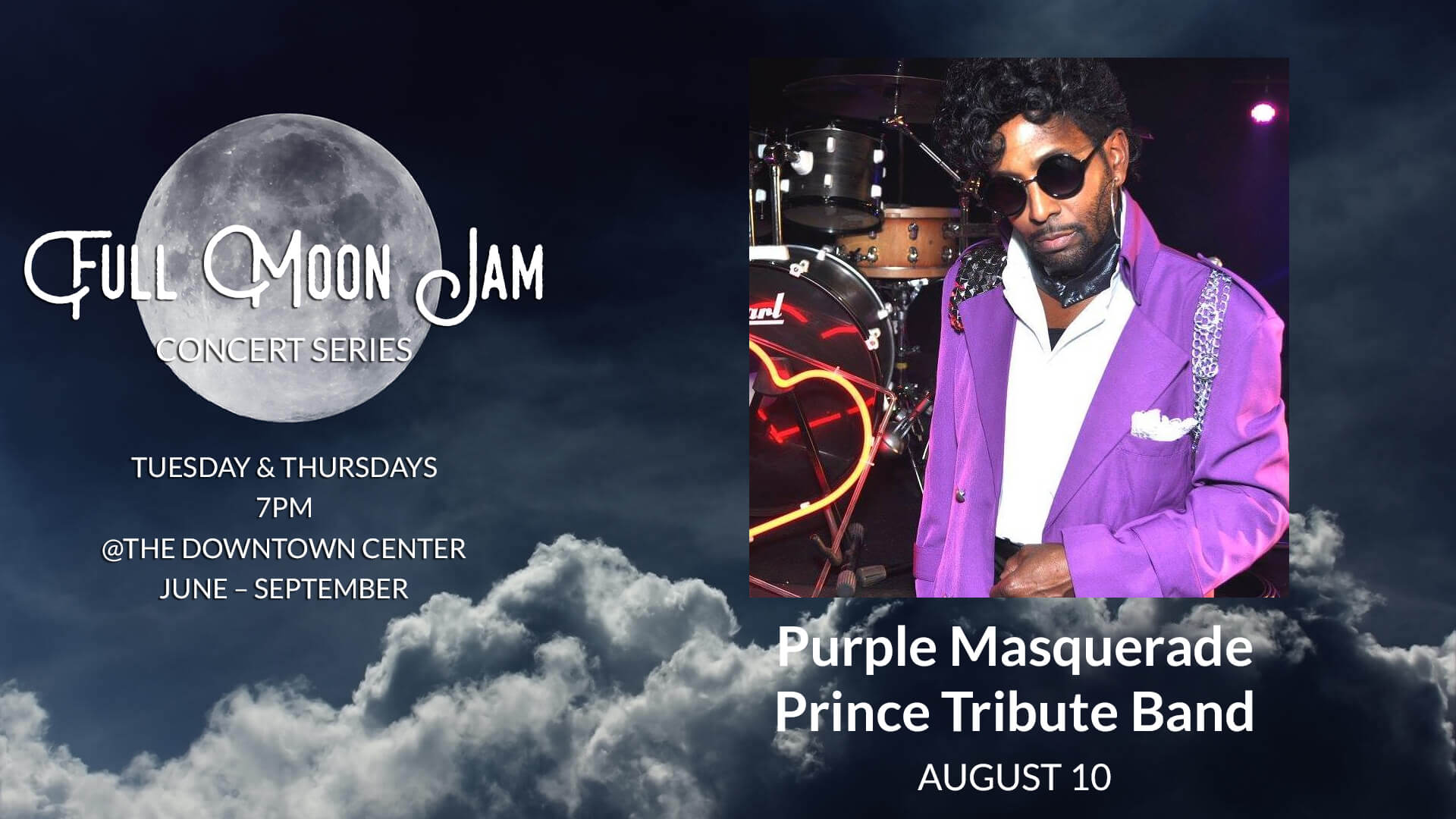 Full Moon Jam: Purple Masquerade Prince Tribute Band at Downtown