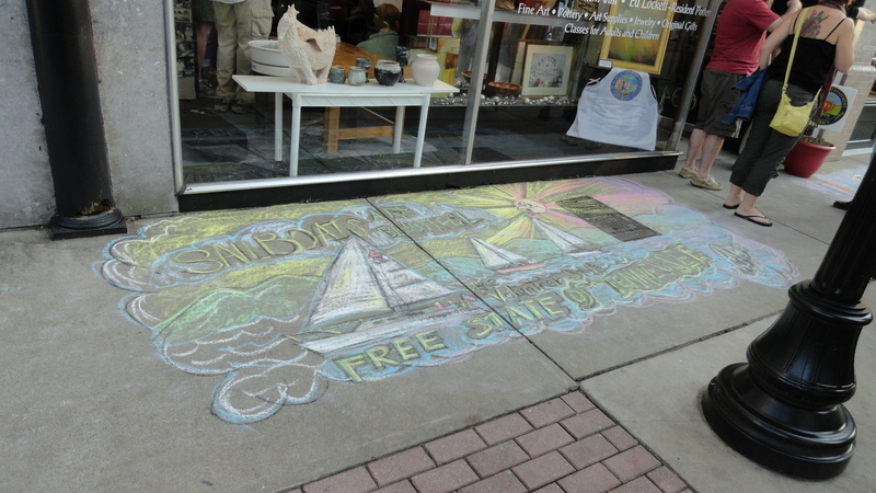 Inspired chalk art at One of a Kind Gallery