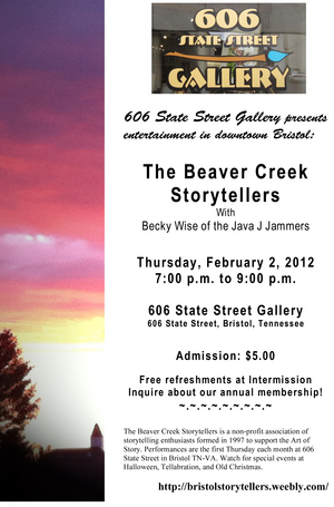 The beaver creek storytellers with becky wise at 606 state street the beaver creek storytellers with becky wise at 606 state street gallery downtown bristol blog believe in bristol historic downtown tn va fandeluxe Image collections