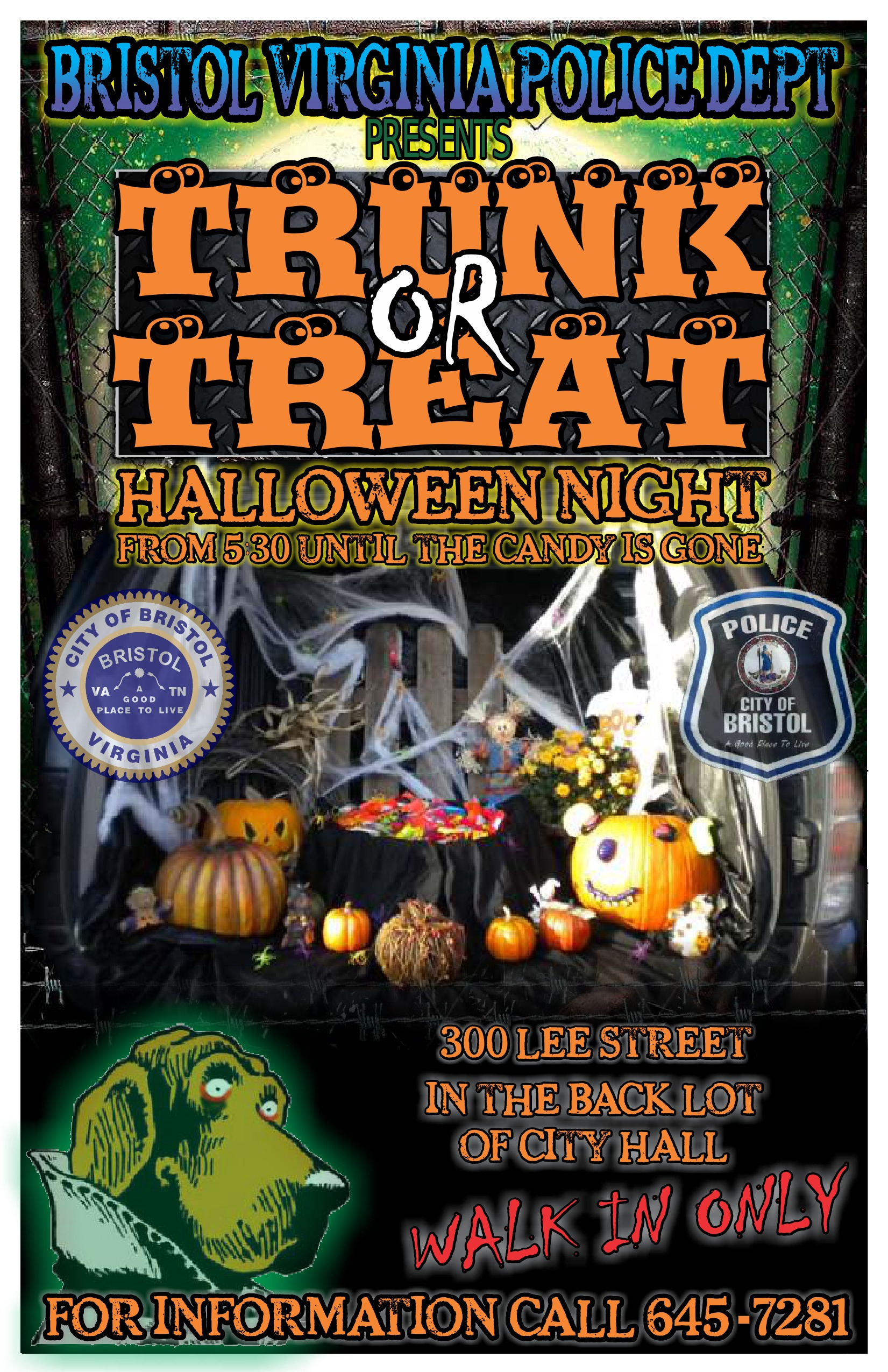 Bristol, Virginia Police Department Trunk or Treat | Downtown ...