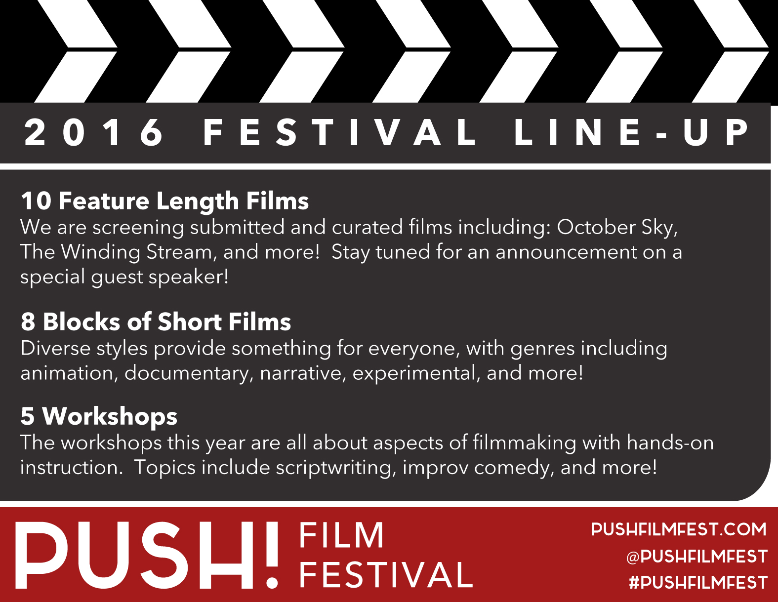 save off 97149 0fff0 PUSH! Film Festival Lineup Available, Workshops Announced   Downtown  Bristol Blog • Believe in Bristol, Historic Downtown TN   VA